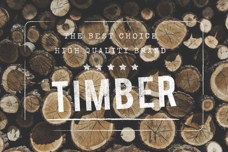 TImber Wood Trunk Stacked Lumber Pine
