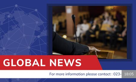 Graphic of global hot news in special report