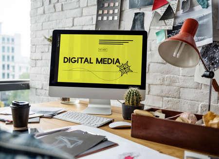 techie: Innovation Technology Digital Media Graphic Stock Photo