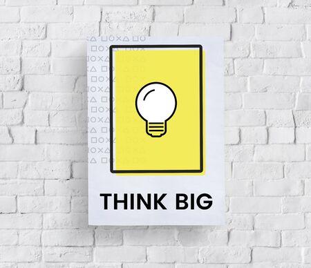 Concept de pensée créative Innovation Concept d'imagination Banque d'images - 81735052