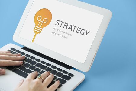 Strategy Mission Planning Process Solution Stock Photo
