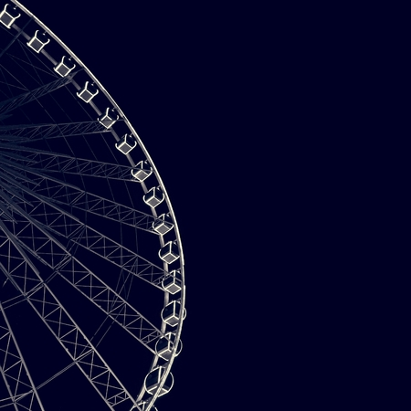Ferris Wheel Night Amusement Attraction Stock Photo