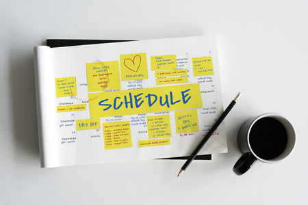 appointment book: Schedule Memo Note Post Appointment Meeting Reminder Stock Photo
