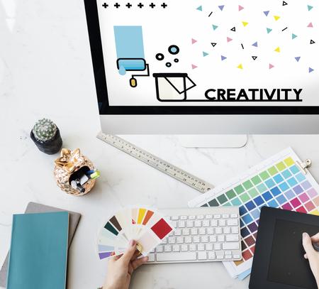 Graphic of creative art design on computer