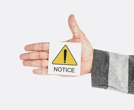 Notice Alert Attention Danger Error Warning Reklamní fotografie - 81795121