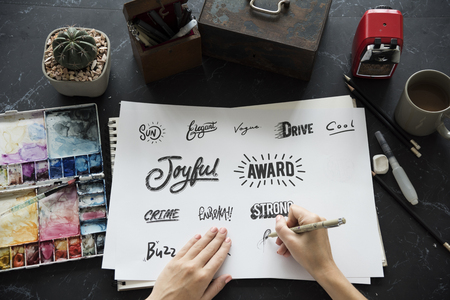 Calligraphy Design Typography Workplace