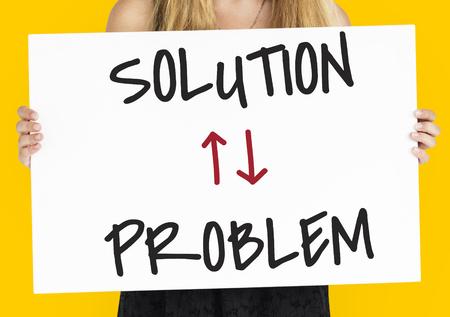 Problem Solution Arrow Up Down Word Stok Fotoğraf