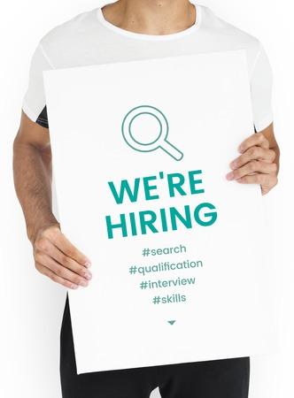 Employment Career Hiring Recruiting Conept 版權商用圖片