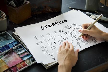 Doodles Art Creative Design Icon Vector Graphic Illustration Фото со стока