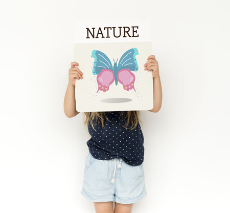 Nature Biology Insects Butterfly Illustration Concept