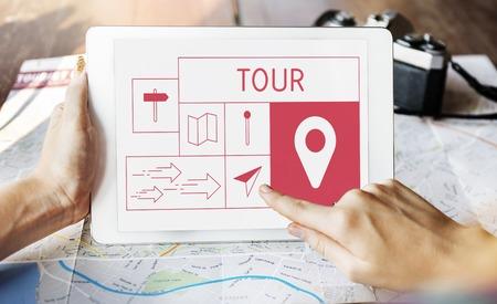 Map Direction Pin Tag Location Journey Reklamní fotografie