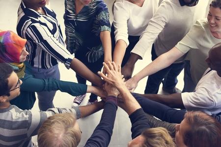 Startup Business People Teamwork Cooperation Hands Together Foto de archivo