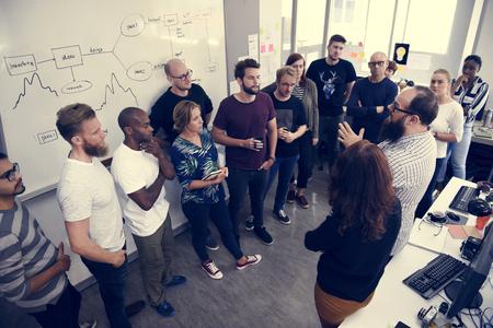Start-up Business Team Brainstorming op Meeting Workshop Stockfoto