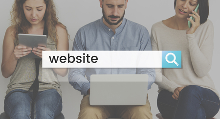 techie: Website Browser Search Bar Magnifying Glass Graphic