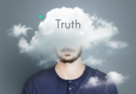 雲隠しジレンマうつ病至福 写真素材 - 81841825
