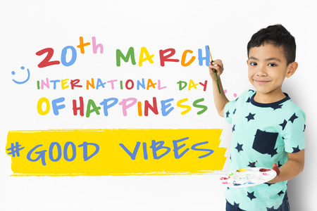 International Day Of Happiness Concept Stock Photo
