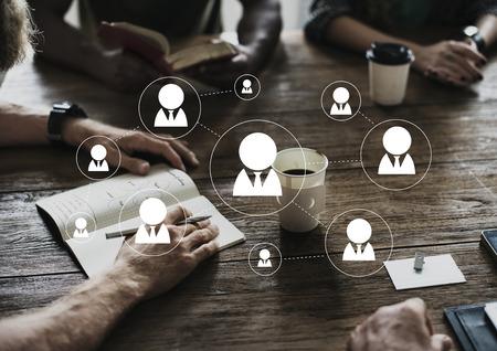 Social Network Connection Avatar Icon Vector Banco de Imagens