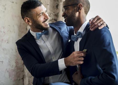 ゲイカップルの愛 写真素材