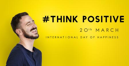 Bonne journée internationale de bonheur Banque d'images - 81859398