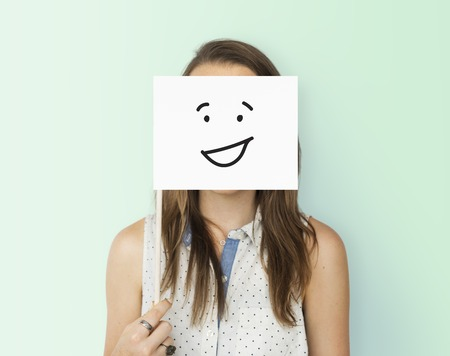 Drawing Facial Expressions Emotions Feelings Stock Photo