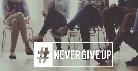 Never give up keep trying again. Stok Fotoğraf