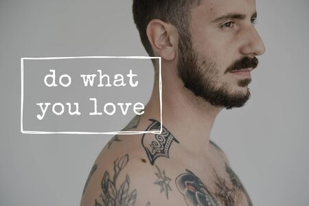 Do What You Love Motivation Word Graphic Stock Photo