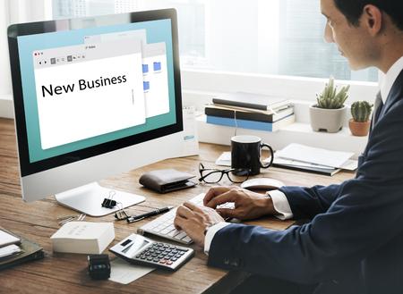 New Business Venture Ondernemer Concept Stockfoto