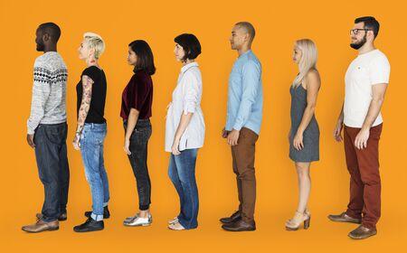 Group of People Standing Line Up Together Zdjęcie Seryjne - 81739697