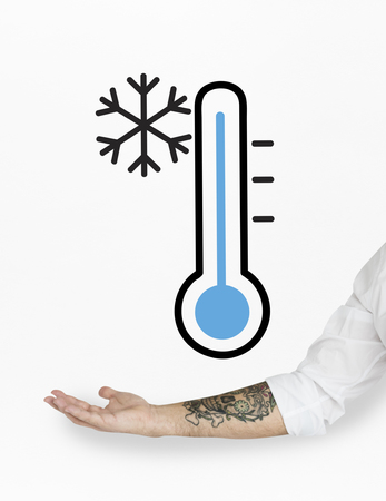body temperature: Network connection graphic overlay background