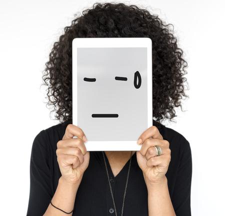 감정적 인 감정 표현 식 그래픽 스톡 콘텐츠