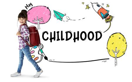 Kindertijd Kinderen Jongeren Concept Stockfoto