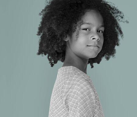 Little Girl confiance Portrait Self Esteem studio Banque d'images - 81815692