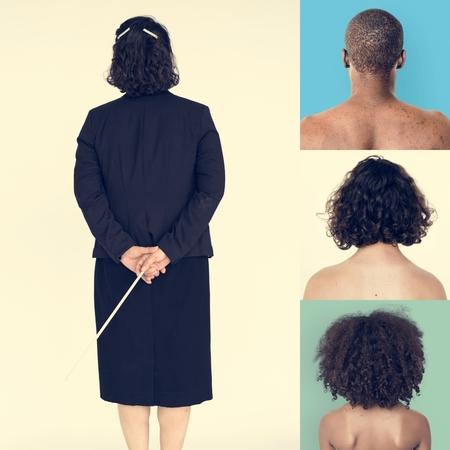 Ensemble Collage du Studio Gesture Back Banque d'images - 81766431