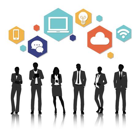 Vector UI Illustration Business People Concept Stok Fotoğraf - 81880621