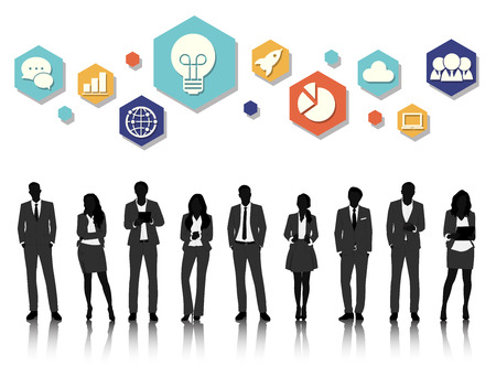 Vector UI Illustration Business People Concept Stok Fotoğraf - 81880712