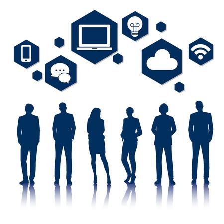 Vector UI Illustration Business People Concept Stok Fotoğraf - 81880662