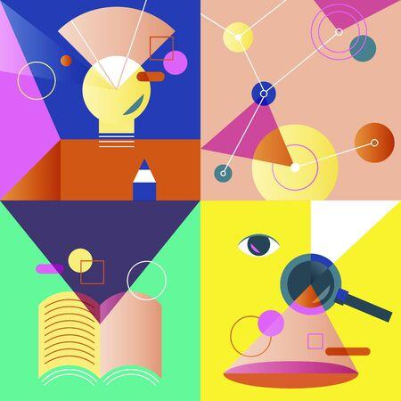 Pictogram bedrijfs vector kleurrijke reeks
