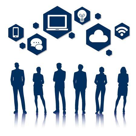 Vector UI Illustration Business People Concept Stok Fotoğraf - 81880708