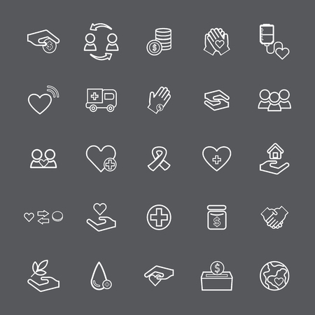 Collection of healthy icon set