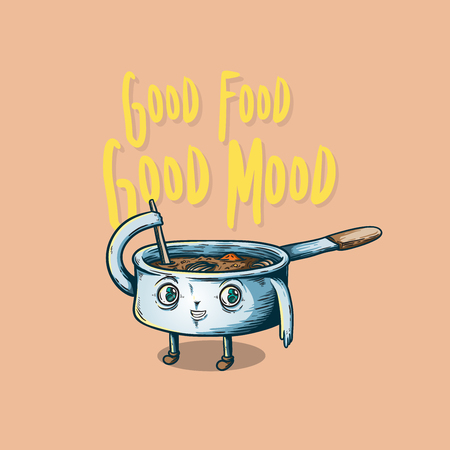 Vector graphic design about good food