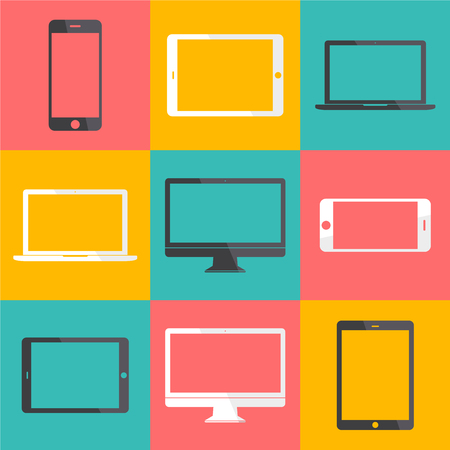 Technology Digital Device Icon Vector Concept Illusztráció