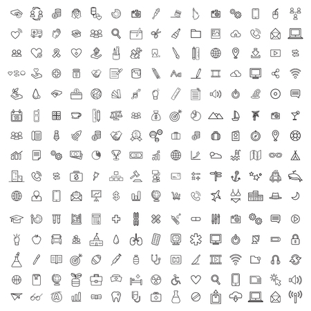 Vector UI Illustration Mixed Icon Collection Illustration