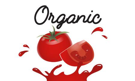Verduras orgánicas Concepto de tomate fresco Foto de archivo - 81975356