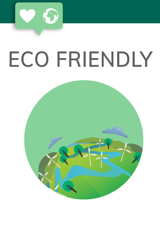 Graphic with eco friendly concept