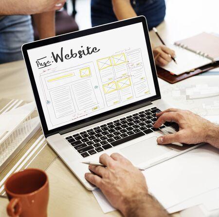 웹 디자인 크리 에이 티브 디자인 창의력 아이디어 연결 스톡 콘텐츠