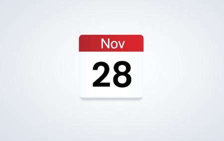 Illustration of calendar schedule personal organizer