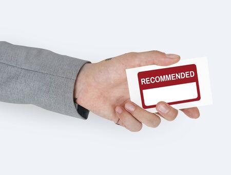 vorschlag: Empfehlen Sie Anmerkung Lizenzfreie Bilder