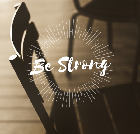 Dont Give Up Be Strong Concept Banco de Imagens