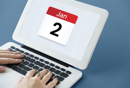 날짜 월 달력 일정 약속 일정 계획자 스톡 콘텐츠 - 81945160