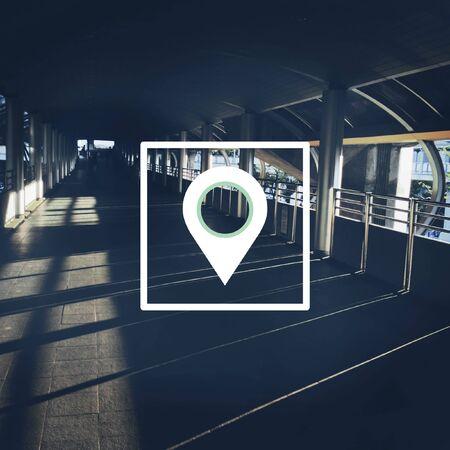 거리 표시기 GPS 위성 위치 확인 시스템 스톡 콘텐츠